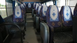 Clean and comfortable seats with AC.